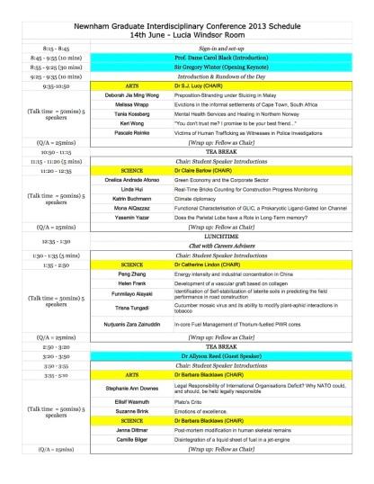 Newnham Conference Schedule copy